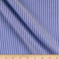 Tencel Poly Challis Stripe Sky/Navy Fabric