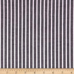 Cotton Lawn Stripe Black Fabric