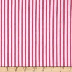 Cotton Lawn Stripe Pink Fabric