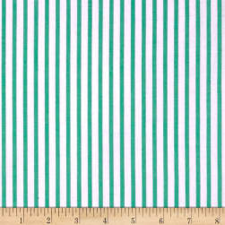 Cotton Lawn Stripe Green Fabric