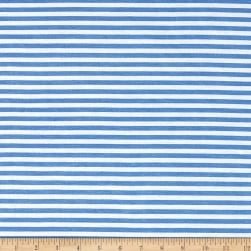 1/4'' Stretch Rayon Stripe Jersey Knit Blue Fabric
