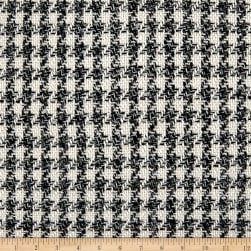 Telio Polyester Paloma Houndstooth Tweed Ecru Fabric