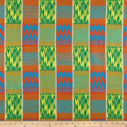 Ribbon Kente African Print 12 Yards Light Turquoise/