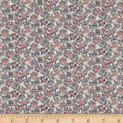 Liberty Fabrics Tana Lawn Deco Rose Purple/Red Fabric