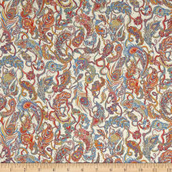 Liberty Fabrics Tana Lawn Falling Feather Orange/Multi Fabric