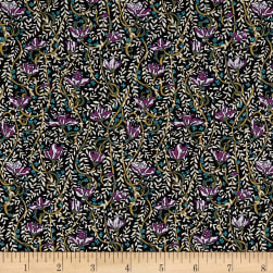 Liberty Fabrics Tana Lawn Fuschia Drop Purple/Multi Fabric
