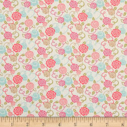 Liberty Fabrics Tana Lawn Ribbon Bloom Pink Fabric