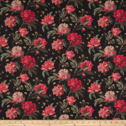 Liberty Fabrics Tana Lawn Decadent Blooms Black Fabric