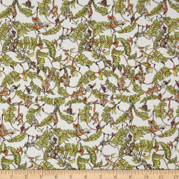 Liberty Fabrics Tana Lawn Tree Tops Green/Yellow Fabric
