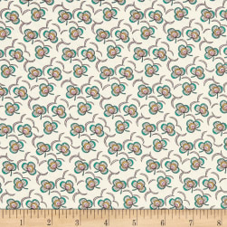 Liberty Fabrics Tana Lawn Clover Cascade Cream/Green Fabric