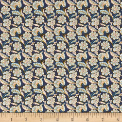Liberty Fabrics Tana Lawn Chester Row Blue/Multi Fabric