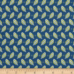 Liberty Fabrics Tana Lawn Paisley Feather Blue Fabric