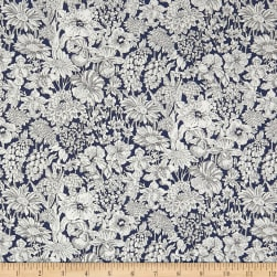 Liberty Fabrics Tana Lawn Luna Meadow Navy