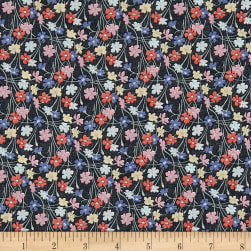 Liberty Fabrics Tana Lawn Buttercup Black/Multi