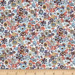 Liberty Fabrics Tana Lawn Floral Jazz Orange/Multi Fabric