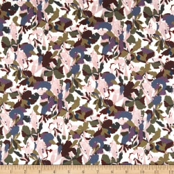 Liberty Fabrics Tana Lawn Camo Flower Purple/Multi