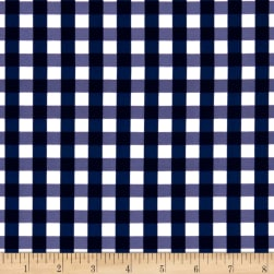 Swimwear Nylon Spandex Gingham Navy Fabric