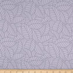 Simply Neutral Packed Large Leaves Grey Fabric