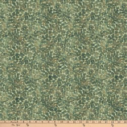 Shimmer Luminious Small Packed Leaf Metallic Teal Fabric