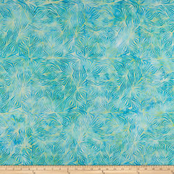 Banyan Batiks Visual Sounds Diamonds Green/Blue Fabric