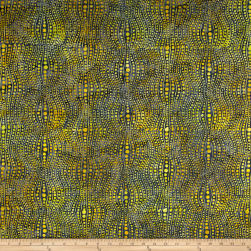 Banyan Batiks Visual Sounds Dot Stripe Yellow Fabric