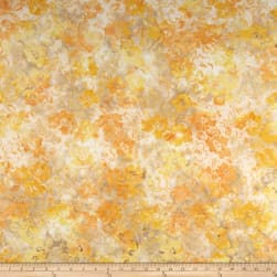 Banyan Batiks Sophie Colored Florals Yellow Fabric