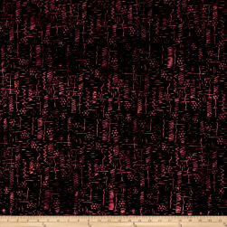 Banyan Batiks Primitive Lines Line Sketches Black/Red Fabric