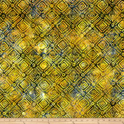 Banyan Batiks Nostalgic Vibes Diagonal Check Black/Yellow