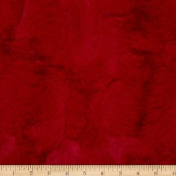 Shannon Minky Luxe Cuddle Hide Cardinal Fabric