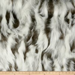 Shannon Lux Fur Nordic Fox Ivory/Brown Fabric