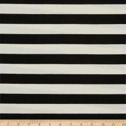 Art Gallery Striped Bold Caviar Stretch Jersey Knit Black & White Fabric