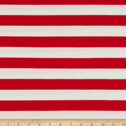 Art Gallery Striped Bold Red Jersey Knit Red