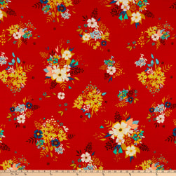 Art Gallery Summerdress Dreams Flare Rayon Challis Red