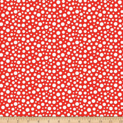 Riley Blake Gnome and Gardens Loopy Dots Red