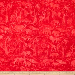 Island Batik Petting Zoo Jungle Animals Cherry
