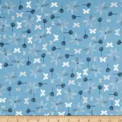 Stof Fabrics Denmark Hollie's Flowers Butterlies & Flowers