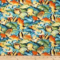 Trans-Pacific Textiles Hawaiian Tropical Fish Seagreen