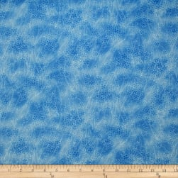 Trans-Pacific Textiles Asian Cherry Blossom Blender Blue Fabric