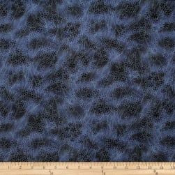 Trans-Pacifict Textiles Asian Cherry Blossom Blender Navy Fabric