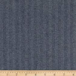10 Oz. Herringbone Striped Denim Blue Fabric