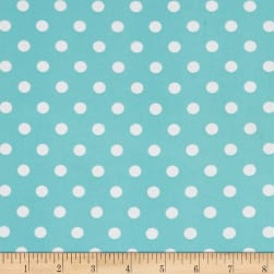 Double Brushed Poly Jersey Knit Small Polka Dot