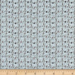 Lecien Sweet Garden Of Mine Floral Lattice Blue Fabric