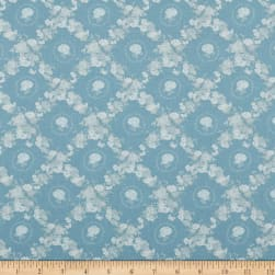 Lecien Woodland Rose Lattice Blue Fabric