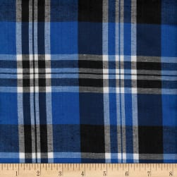 Cambridge Rayon Yarn-Dyed Plaids Royal/Black