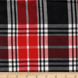 Cambridge Rayon Yarn-Dyed Plaids Red/Black/White Fabric