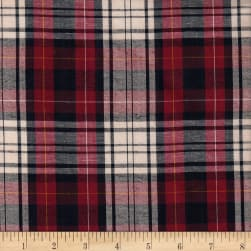 Cambridge Rayon Yarn-Dyed Plaids Navy/Wine/Cream Fabric