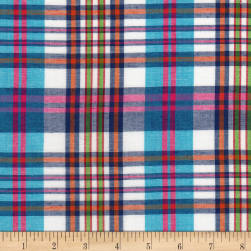 Cambridge Rayon Yarn-Dyed Plaids Blue/Pink/White Fabric