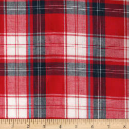 Madras Yarn-Dyed Plaids Red/Blue Fabric