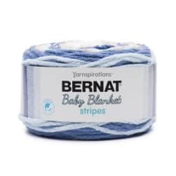 Bernat Baby Blanket Stripes 2-Pack Stonewash