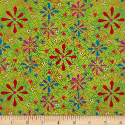 M&S Textiles Flowers in the Desert Green Fabric